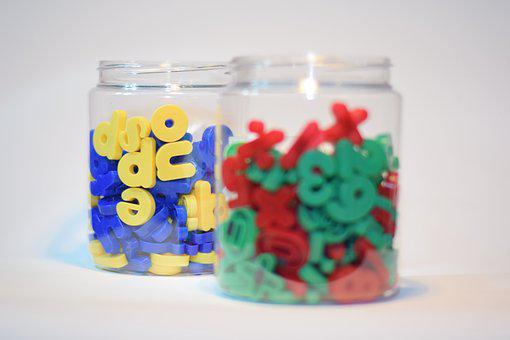 Letters, Numbers, Toys, Magnetic, Typography, Alphabet