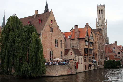 Channel, Water, Architecture, Facade, Stones