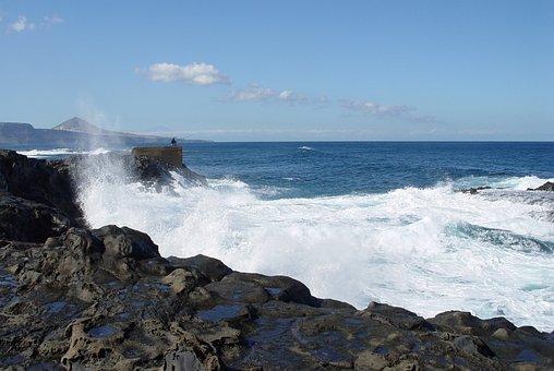 Fishing, Sea, Canary Islands, Gran Canaria