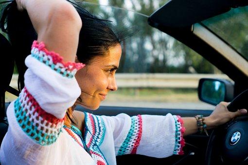 Bmw, Woman, Ride, Hair, Car, Convertible