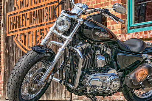 Motorcycle, Harley Davidson, Harley, Usa, Chrome, Gloss