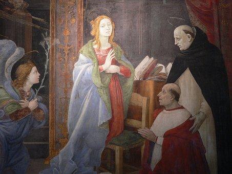 Italy, Rome, Santa Maria Sopra Minerva, Filippino Lippi