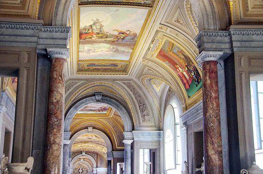 Italy, Rome, Vatican, Museum, Gallery, Decoration