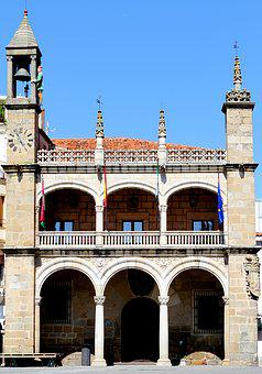 Plasencia Spain, Town Square, Bell Tower, Extremadura