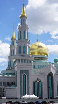 Russia, Mosque, Church Religion, Architecture, Islam