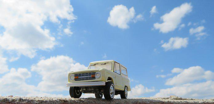 Ford Bronco, Car, Sky, Vintage, Drive, Driving