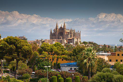 Cathedral, Palma, Mallorca, Church, Spain, Architecture
