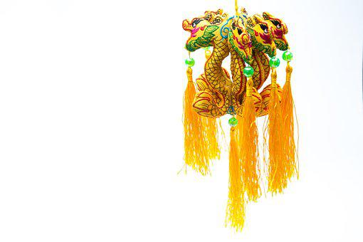 Chinese Dragon, Trim, Eastern, Air Freshener, Colorful