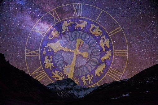 Starry Sky, Zodiac Sign, Clock, Dial Gold, Dial