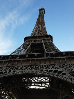 Eiffel Tower, Wrought Iron Lattice Tower, Champ De Mars