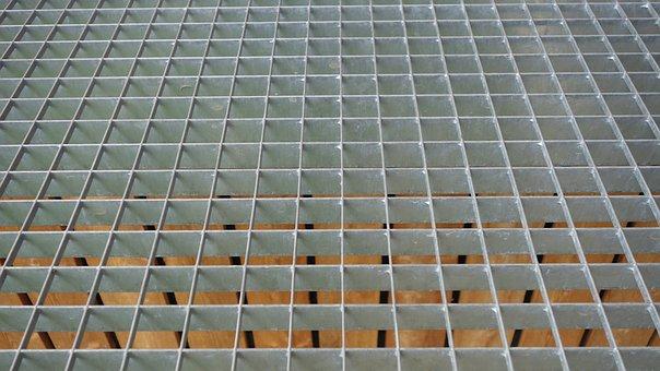 Grid, Metal, Geometry, Lines, Pattern, Background