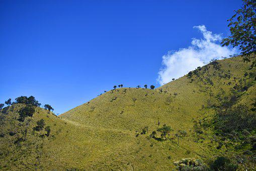 Hill, Indonesia, Landscape, Java, Hiking, Asia