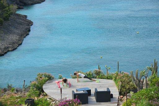 Yoga, Anguilla, Little Bay, Sea, Ocean