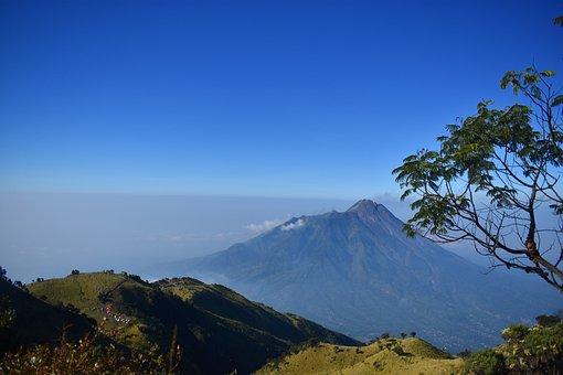 Mountain, Vol, Volcano, Indonesia, Landscape, Java