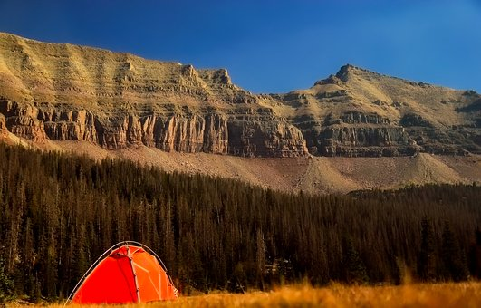 Mountains, Forest, Trees, Woods, Landscape, Tent
