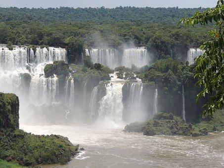 Iguazu, Brazil, Falls, Nature, America, Travel
