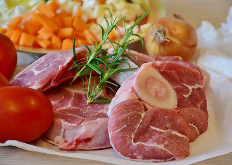 Meat, Calf, Veal, Beef, Osso Buco, Leg Slices, Court