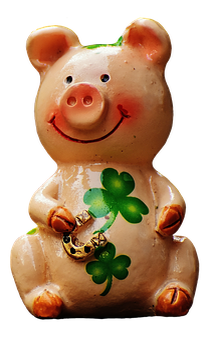 Lucky Pig, Luck, Pig, Funny, Piglet, Lucky Charm, Cute