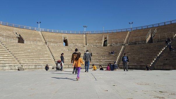 Caesarea, Roman, Israel, Ancient, Ruins, Roman Theatre