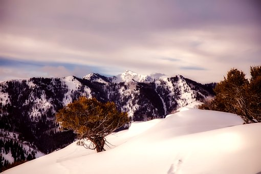 Winter, Snow, Sky, Clouds, Mountains, Nature, Outdoors