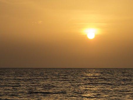 Sunset, Santa Marta, Colombia, Sun, Beach, Landscape