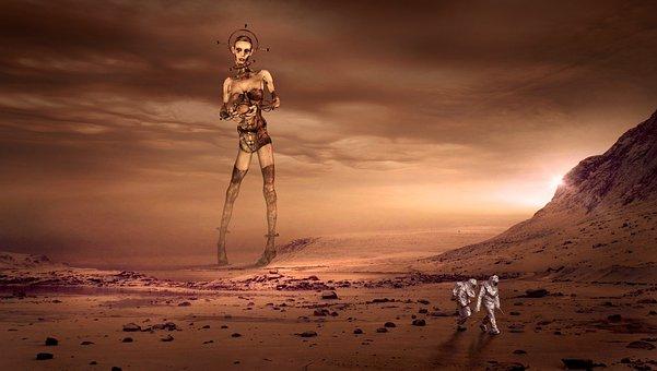 Fantasy, Mars, Residents, Contact, Visitors, Mood, Red