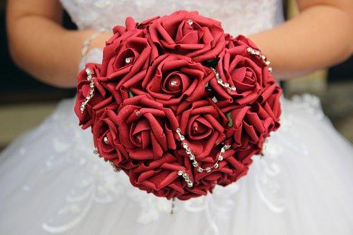 Flower, Bride, Wedding, Bouquet, White, Woman, Dress