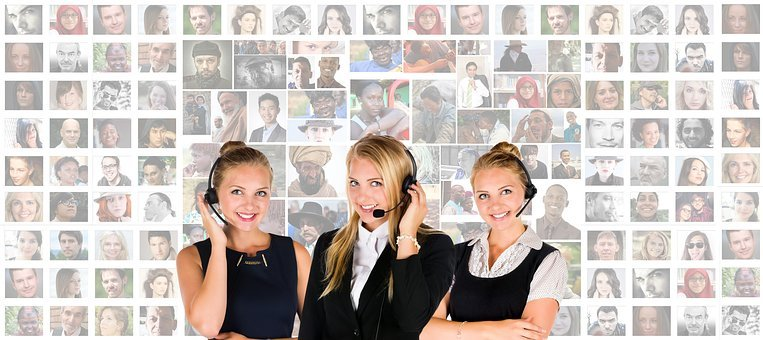 Call Center, Headset, Woman, Human, Personal, Service