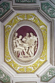 Italy, Rome, Vatican, Museum, Gallery, Ceiling