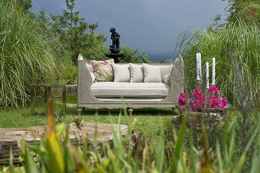 Armchair, Garden, Beautiful, Grass, Gift, Home
