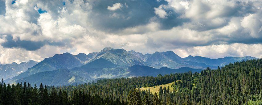 Mountains, Nature, Cloudy, Heavy, Landscape, Sky, Green