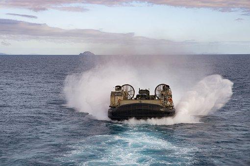 Landing Craft Air Cushion, Lcac Usn, United States Navy