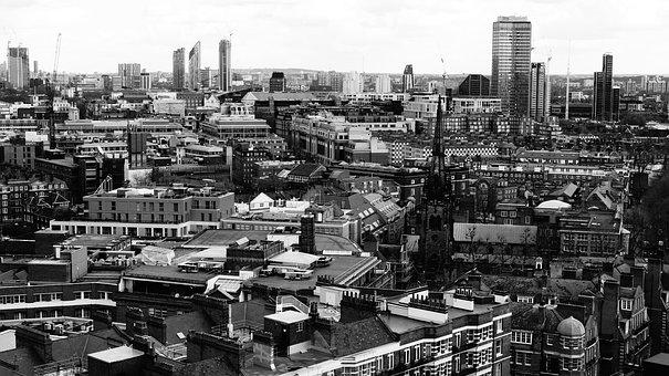 London, March, Top View, United Kingdom, England