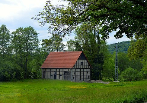 Lonely House, Truss, Architecture, Old Building
