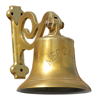 Ship Bell, Bell, Brass, Seafaring, Metallic, Metal, Old