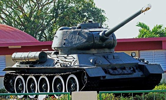 Tank, Cuba, Military, Weapon, Museum, Gun
