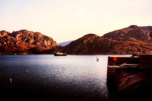 Scotland, Highlands, Mountains, Lake, Reservoir