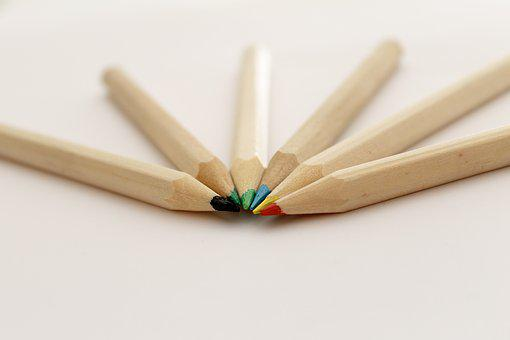 Pencil, Color, Creativity, Wood, Red, Rosa, Blue