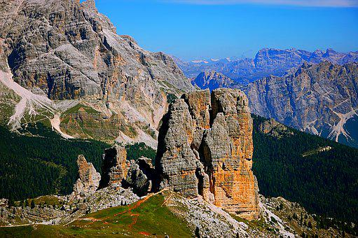 Chinque Torre, Dolomites, Mountains, Italy, South Tyrol