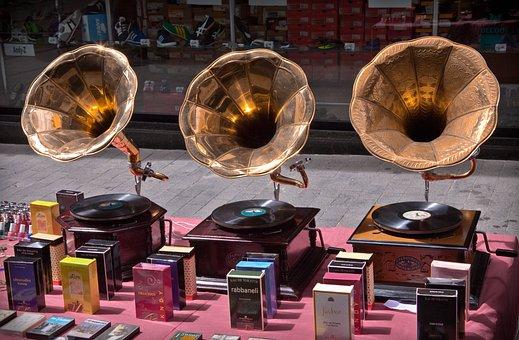 Music, Record, Nostalgia, Turntable, Tinge