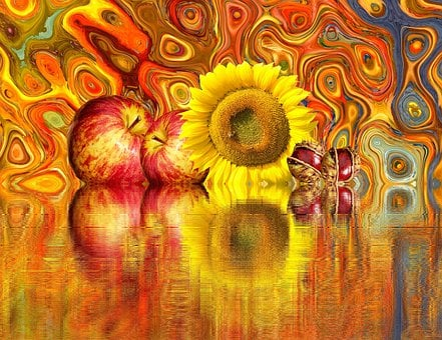 Autumn, Sun Flower, Chestnut, Thanksgiving, Apple