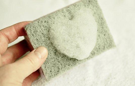 Sponge, Cleaning Sponge, Clean, Rinse, Foam