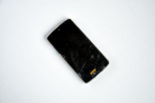 Smartphone, Broken, Damaged, Defect, Screen, Cellphone