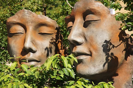 Faces, Garden, Face, Decoration, Figure, Gartendeko
