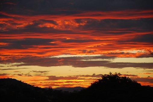Sunset, Clouds, Canberra, Sky, Nature, Sun, Landscape
