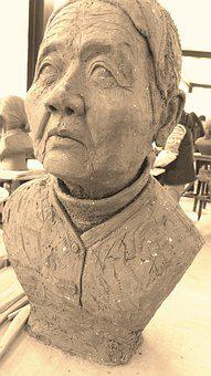 Art, Sculpture, Clay Sculpture, Old People