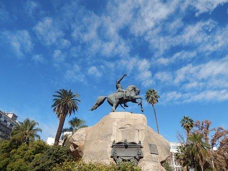 Statue, Plaza, Monument, Bronze, San Martín