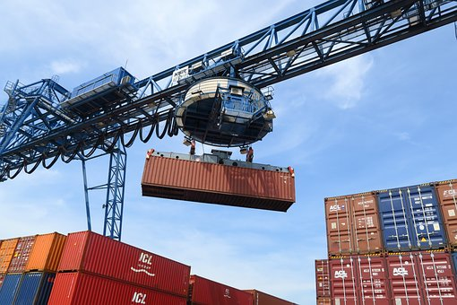 Container, Loading, Port, Transport, Envelope, Cargo