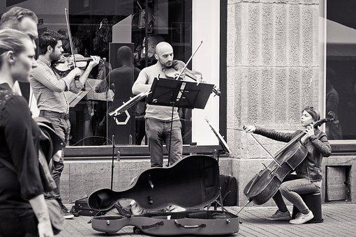 Musician, Street Scene, Street Musicians, City Scene