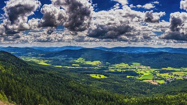 Bavarian Forest, Bavaria, Landscape, Nature, Sky, View